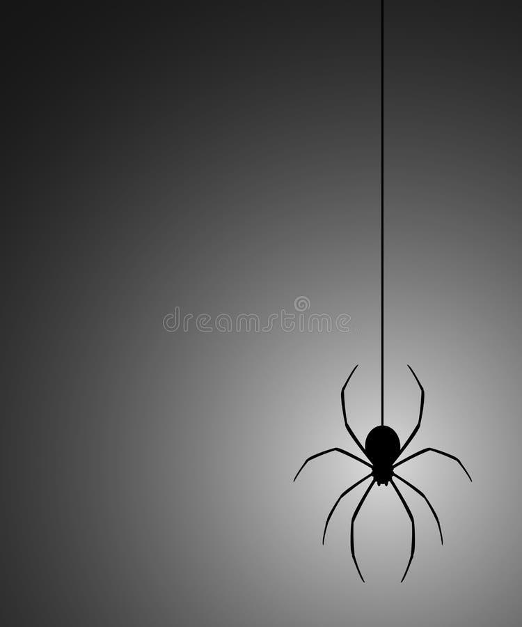 Araña del misterio stock de ilustración