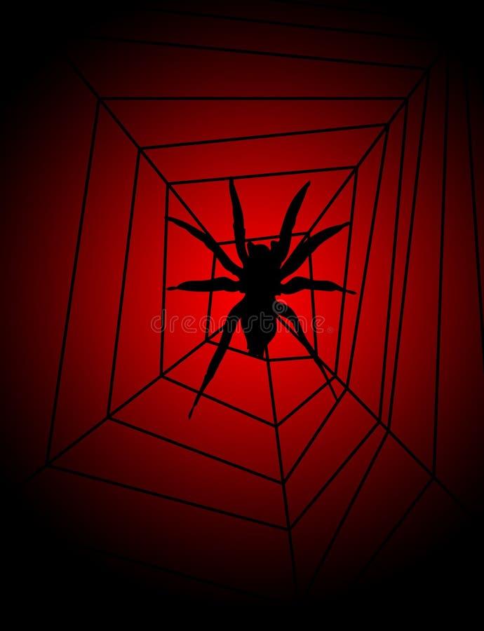 Araña en Web stock de ilustración