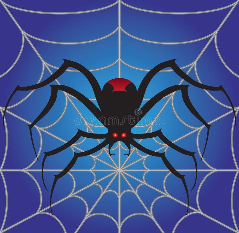 Araña espeluznante en el web libre illustration
