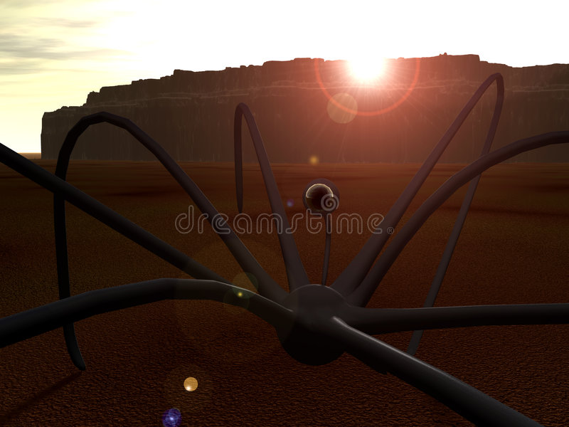 Araña extranjera 2 stock de ilustración