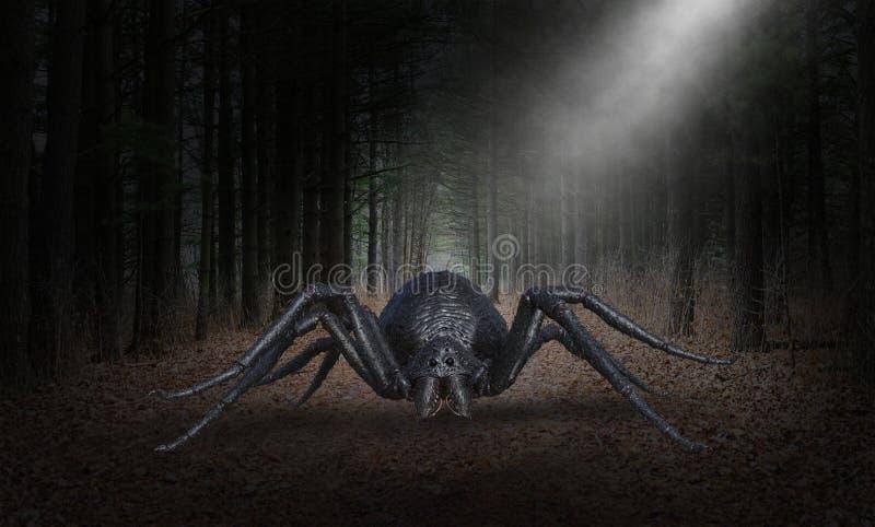 Araña malvada surrealista del monstruo de Halloween imagen de archivo