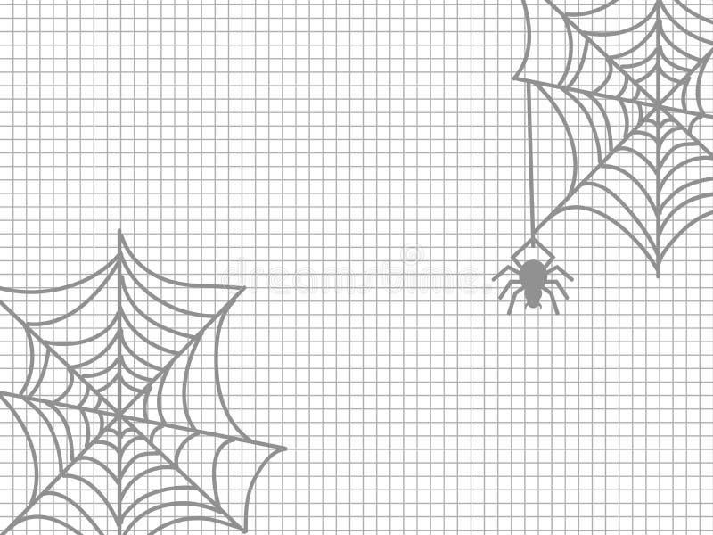 Araña y telaraña Halloween ilustración del vector