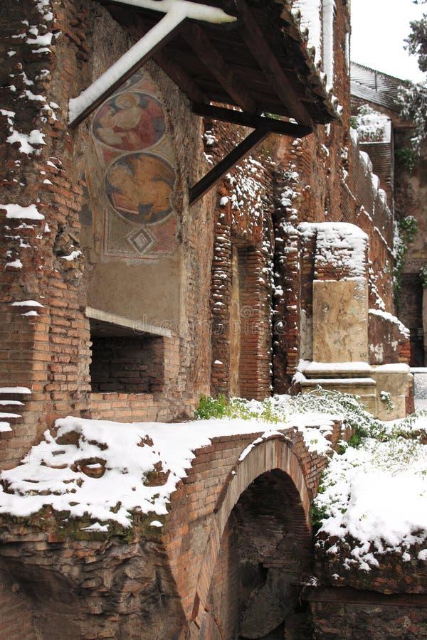 Ara Coeli House Under Snow Editorial Image