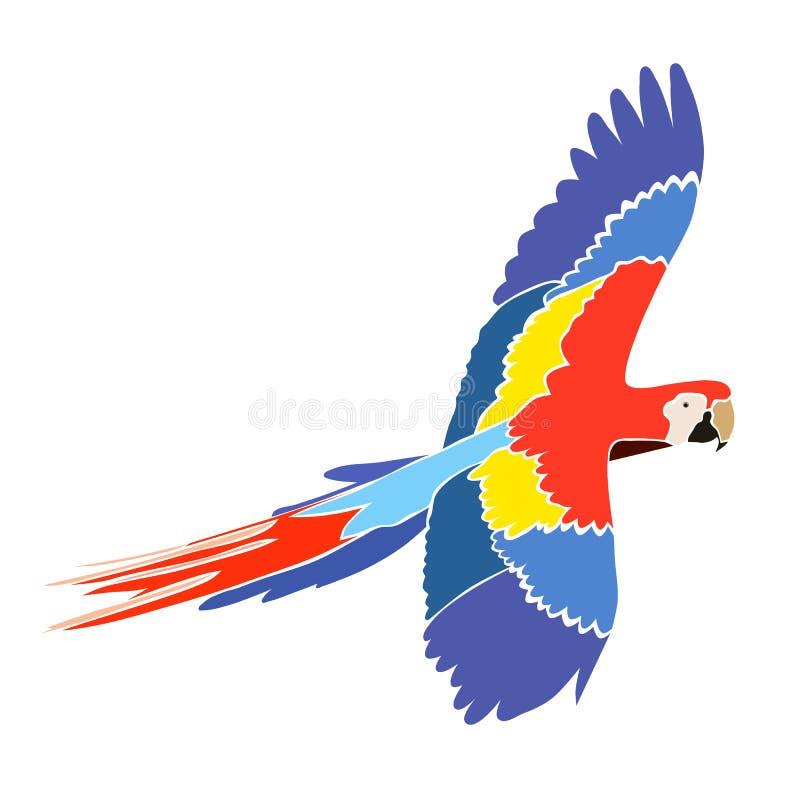 Ara del loro en colores brillantes stock de ilustración
