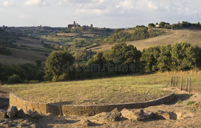 ara del tufo tuscania στοκ φωτογραφία