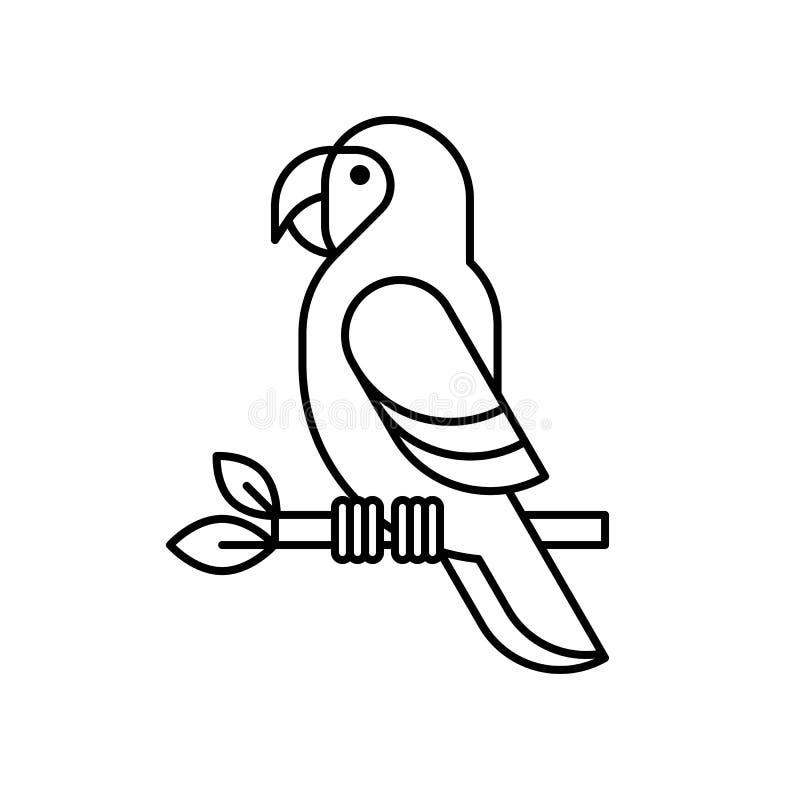 Ara kreskowy wektor ilustracji