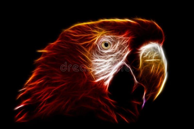 Ara Macaw Fractals imagens de stock royalty free