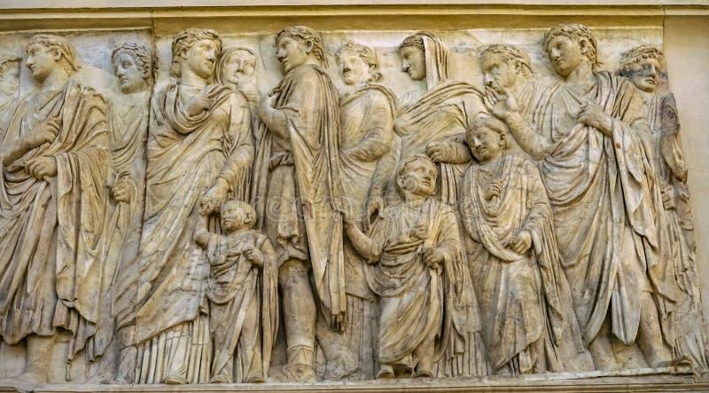 Ara Pacis Altar Peace Emperor Augustus Family Rome Italy royalty free stock photos
