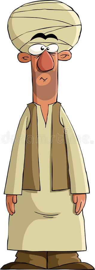 Arab royalty free illustration
