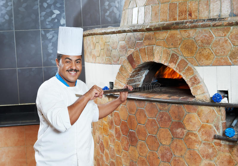 Download Arab Baker Chef Making Pizza Stock Photo - Image: 21191350
