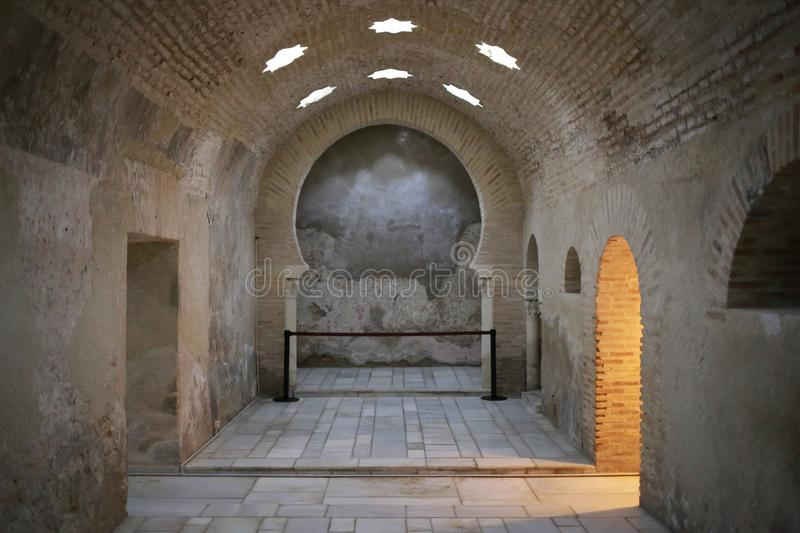 Arab baths of Jaen Andalusia Spain stock photography