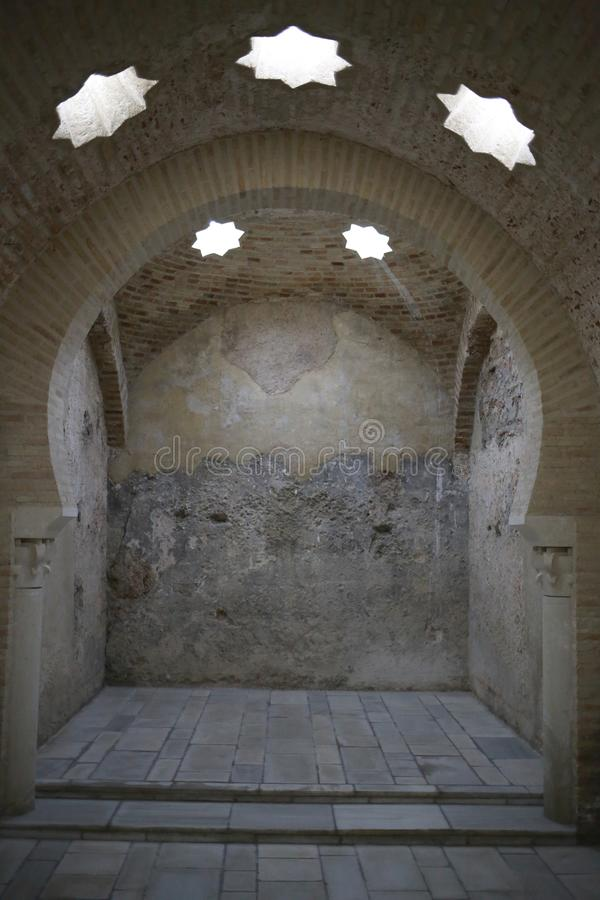 Arab baths of Jaen Andalusia Spain stock photo