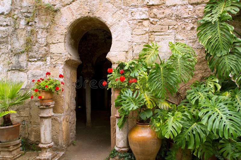 Arab baths in Majorca old city royalty free stock images