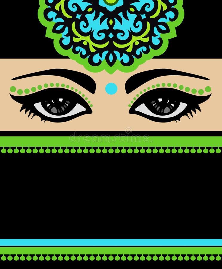 Arab Beautiful Woman In Black Dress. Royalty Free Stock Photo