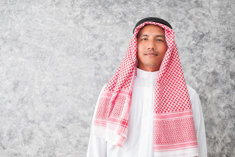 Arab business man standing the office stock photo
