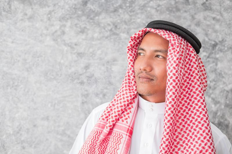 Arab business man standing the office stock images