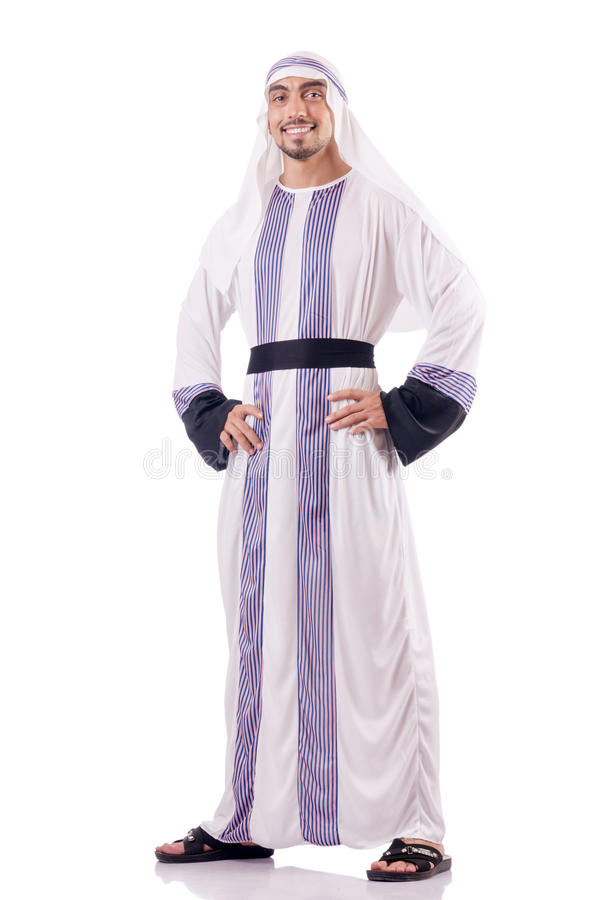 Arab businessman isolated stock image