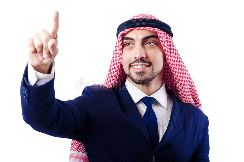 Download Arab businessman stock image. Image of menu, computer - 29368307