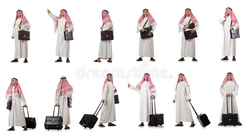 The arab businessman isolated on white royalty free stock photo