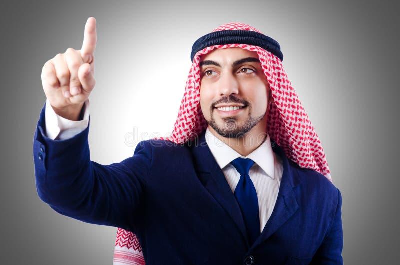 Arab businessman. On white stock photo