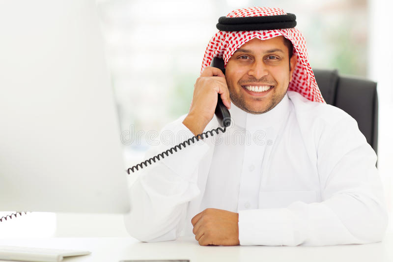 Arab corporate worker stock images
