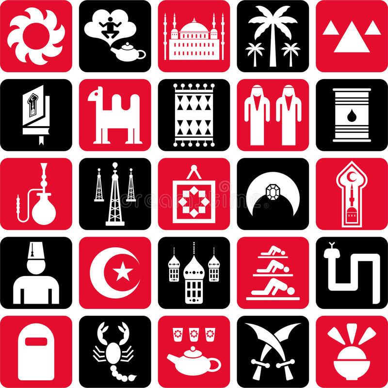Download Arab Countries Icons Stock Image - Image: 24754701