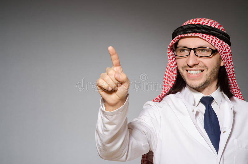 Arab doctor stock images