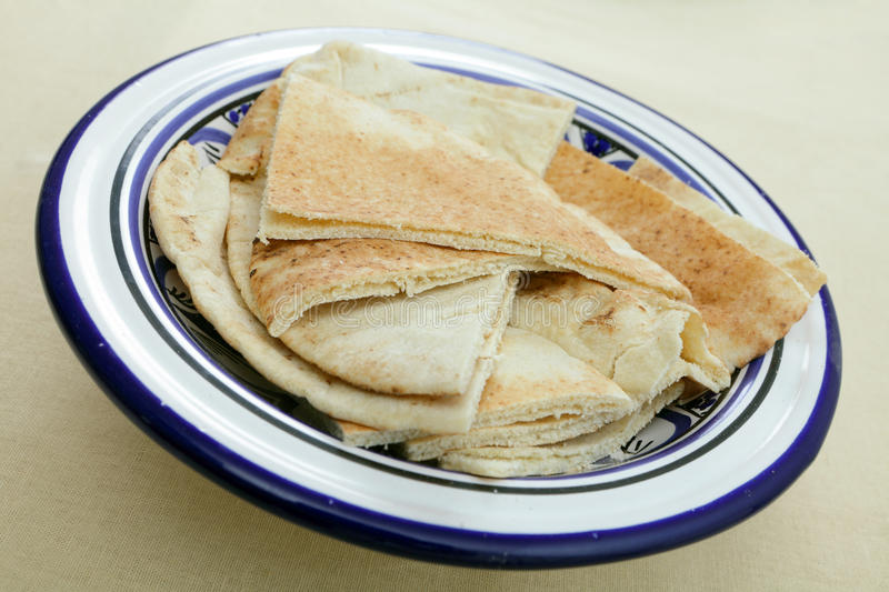 Arab Flat Bread Or Kubz Stock Images