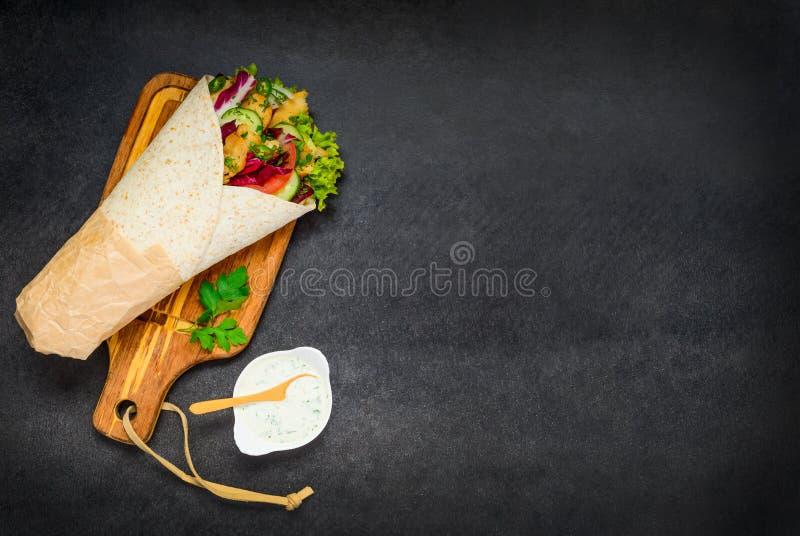 Arab Food Shawarma stock image