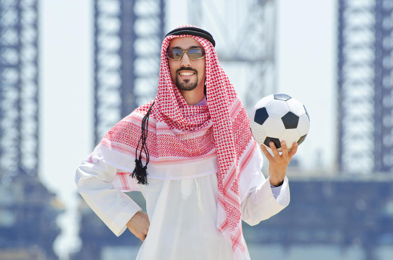 Download Arab With Footbal At Seaside Stock Photo - Image: 25734236