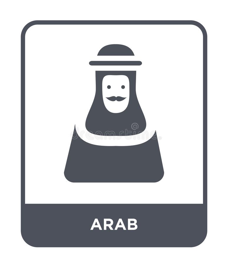 arab icon in trendy design style. arab icon isolated on white background. arab vector icon simple and modern flat symbol for web royalty free illustration