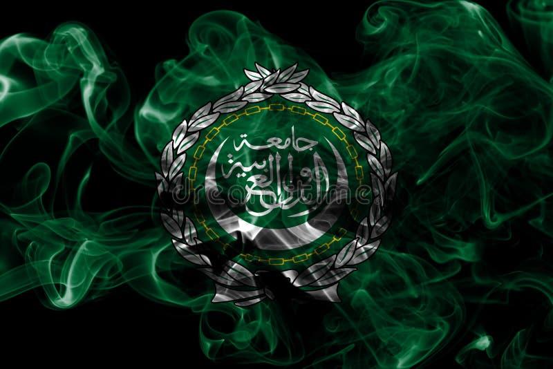 Arab League smoke flag, regional organization of Arab states stock photo