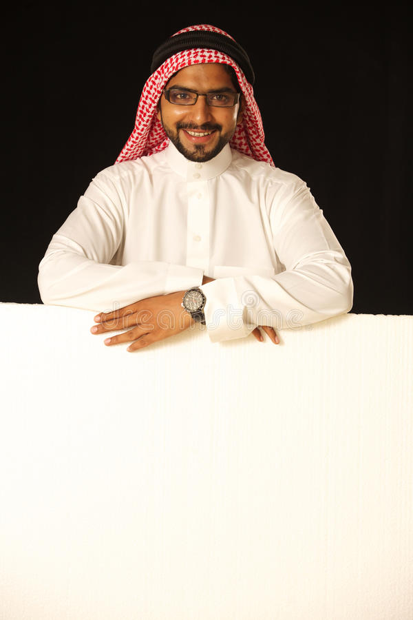 Download Arab male with disply stock photo. Image of presentation - 21237548