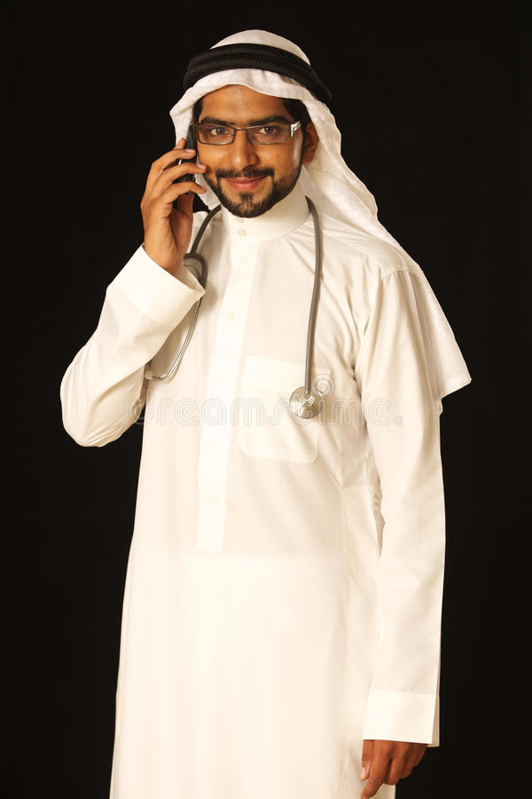 Arab male doctor royalty free stock images