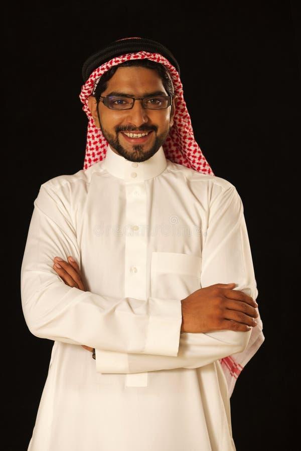 Arab male model standing stock image