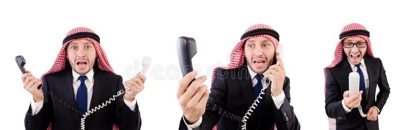 Arab man in diversity concept stock photos