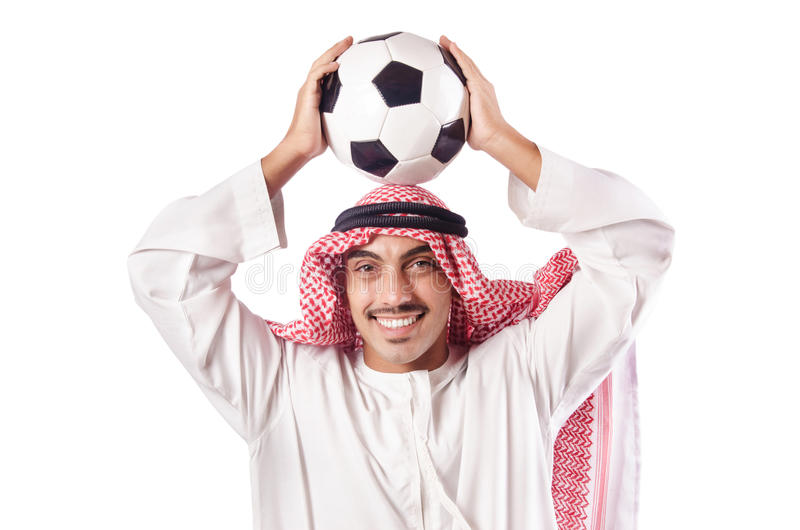 Arab Man With Football Royalty Free Stock Images