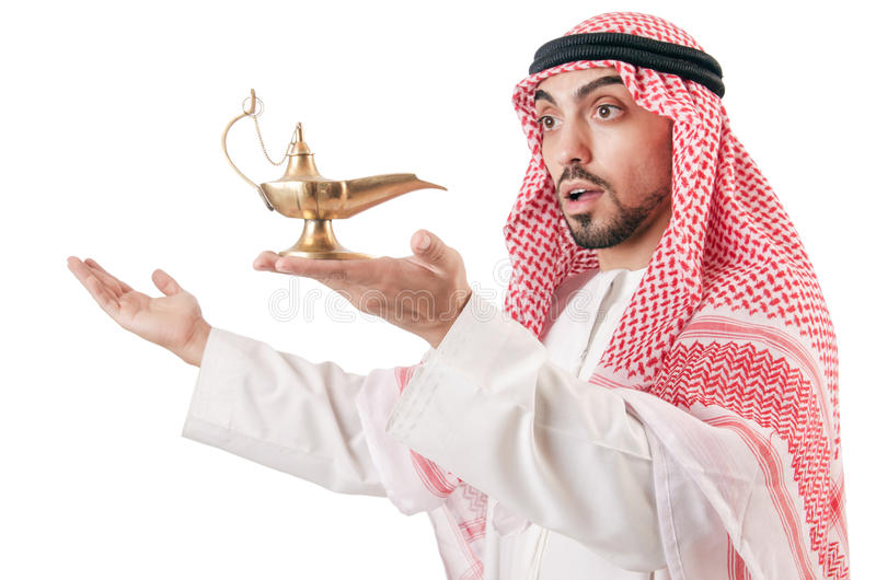Download Arab man with lamp stock photo. Image of arab, bohra - 28298050