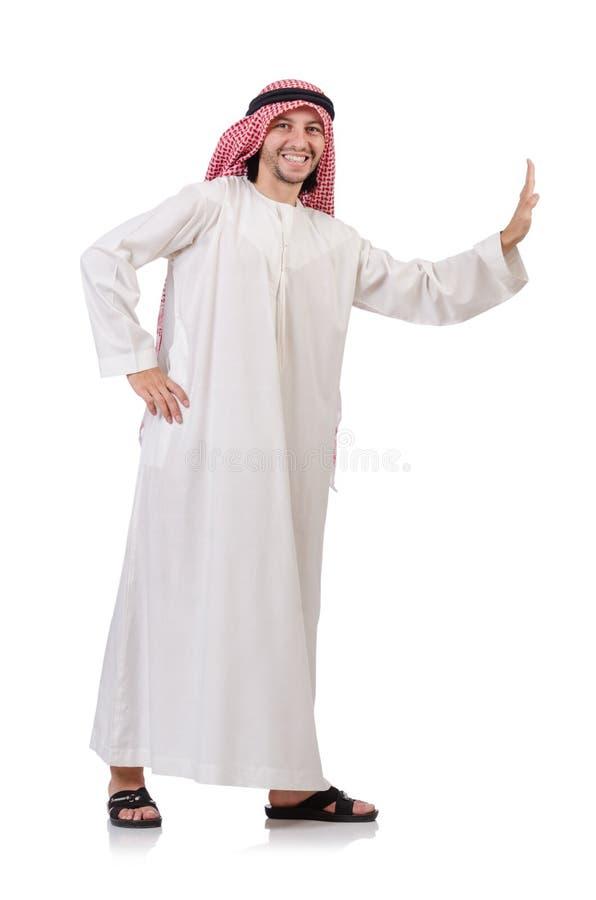 Download Arab Man Pushing Away  Virtual Obstacle Stock Photo - Image: 41115478