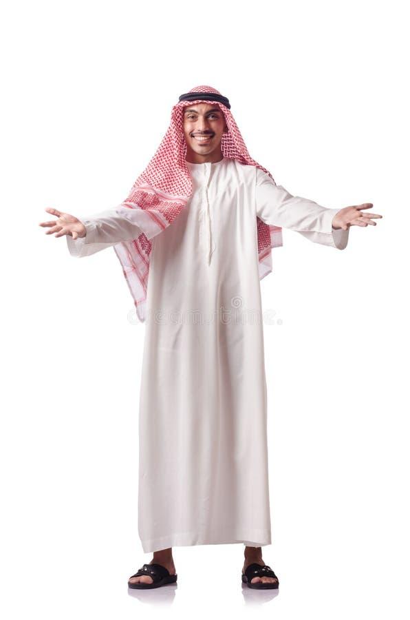 Arab Man  On White Stock Images