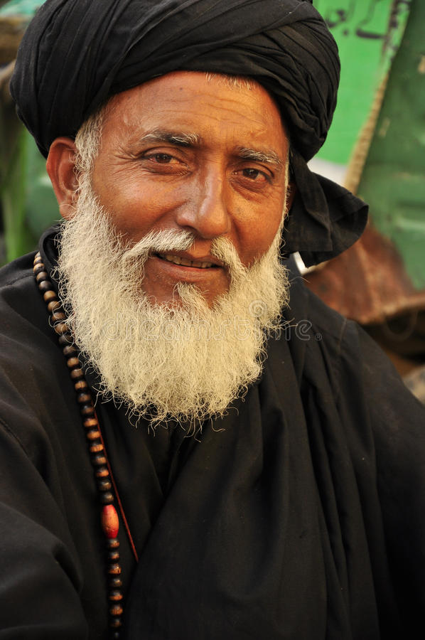 Free Arab Man With Black Turban Royalty Free Stock Images - 33727329