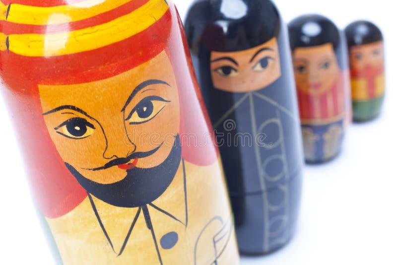 Arab Man Woman Children Family Nesting Dolls royalty free stock photography