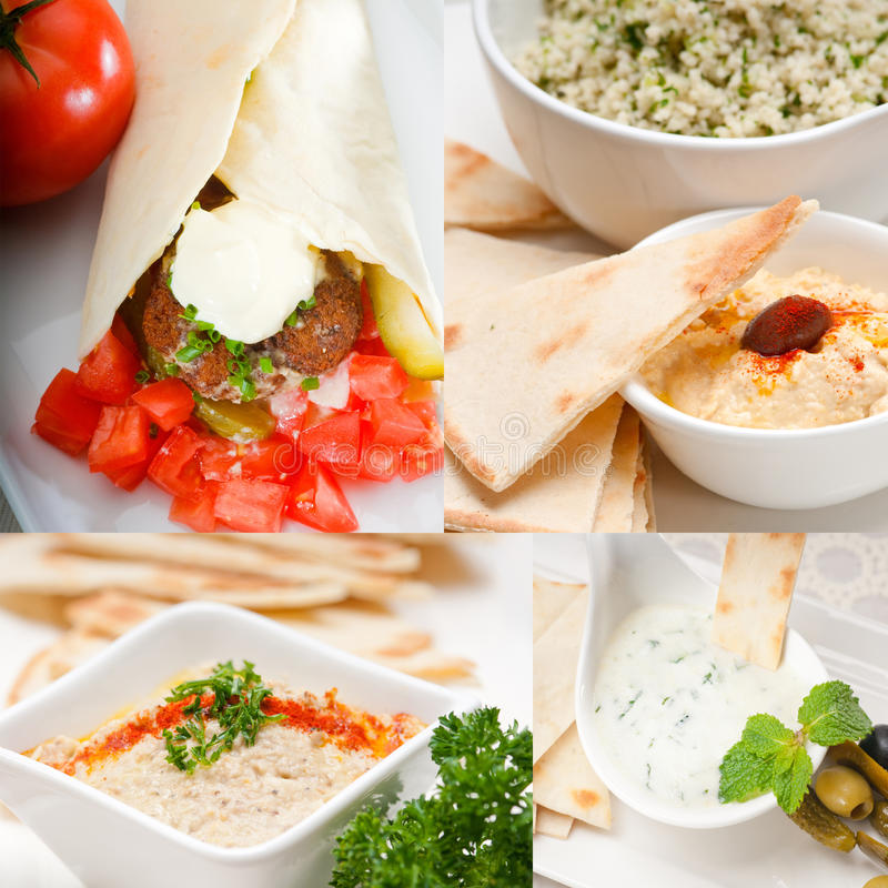 Arab middle east food collection stock images