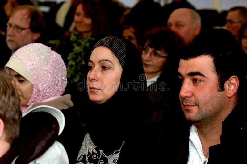 Arab muslim couple granted danish citizenship royalty free stock photo