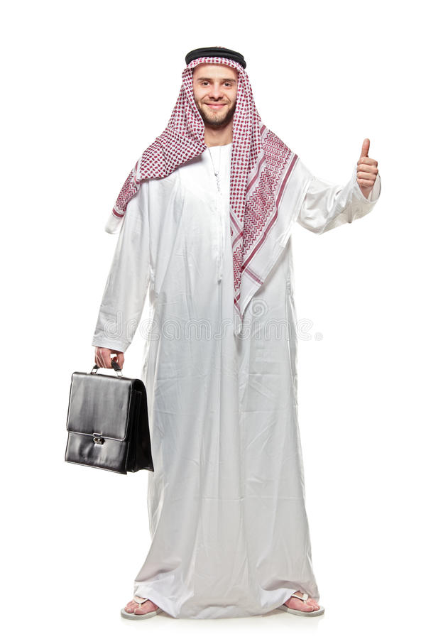 Download An Arab Person With A Thumbs Up Stock Photo - Image: 14395036