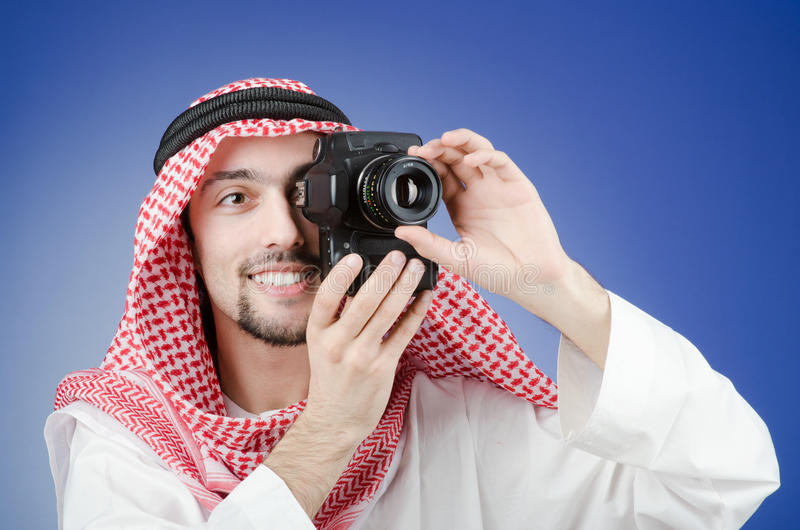 Download Arab Photographer In Studio Stock Photo - Image of digital, photograph: 24164982