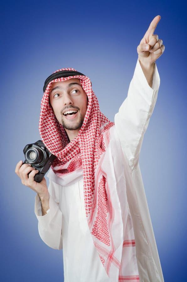 Arab photographer in studio