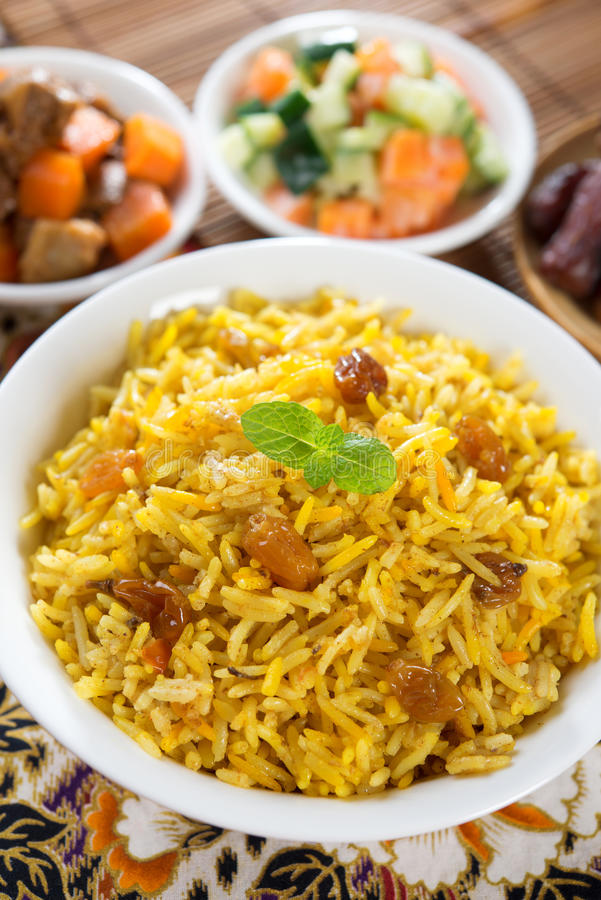 Arab rice royalty free stock photo