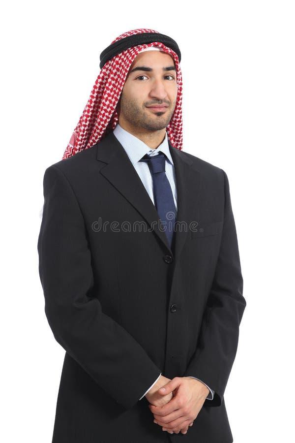 Arab saudi emirates businessman posing serious stock image