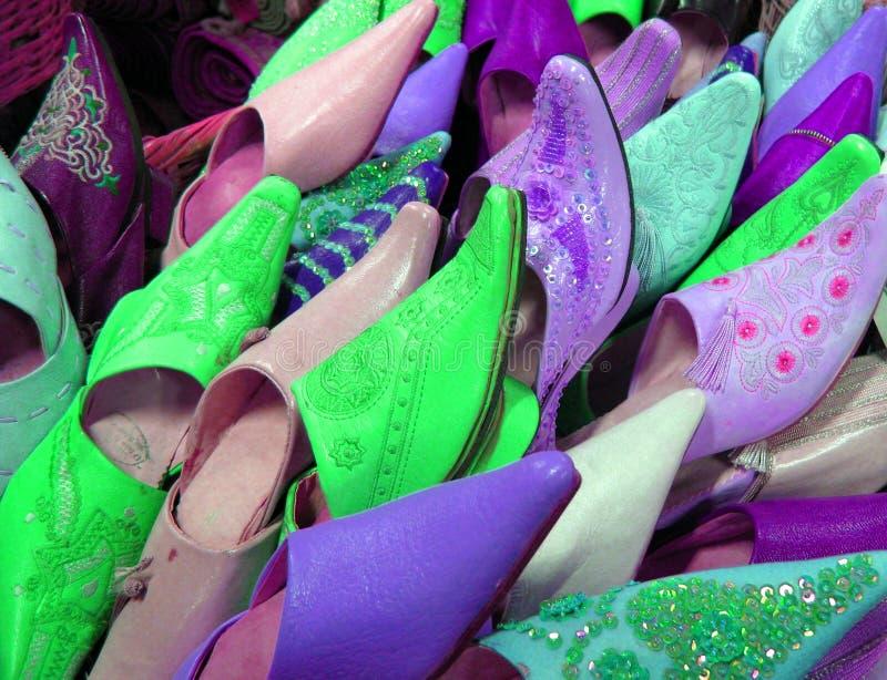 Arab shoes stock photo